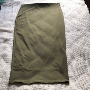 Olive Green Fashion Nova Bodycon Skirt